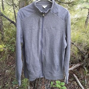 Calvin Klein Gray Zip Up Sweater Mens Medium